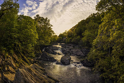Snowdonia Photograph - River Sunset by Ian Mitchell