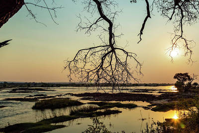Photograph - River Sunset In Botswana, Africa by Kay Brewer