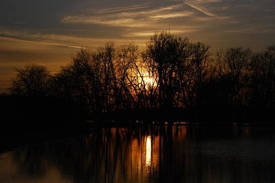 Photograph - River Sunset by Wanda Jesfield