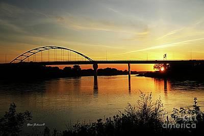 Photograph - River Sunset by Yumi Johnson