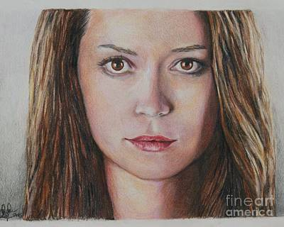 Drawing - River Tam / Summer Glau by Christine Jepsen