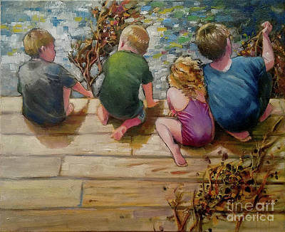 Painting - River Tenders by Mary Hubley