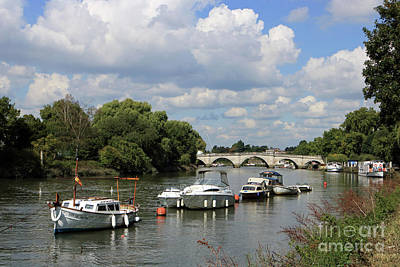 Photograph - River Thames At Richmond Bridge Uk by Julia Gavin