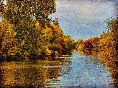 Digital Art - River Thames At Staines by Leigh Kemp