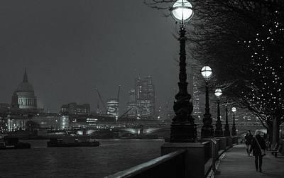 River Thames Embankment, London 2 Art Print