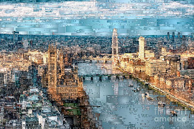 Digital Art - River Thames In London, England by Rafael Salazar