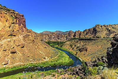 Art Print featuring the photograph River Through Mountains by Jonny D