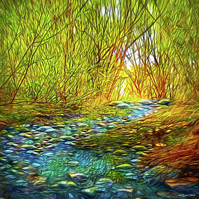 Digital Art - River Through The Woods by Joel Bruce Wallach