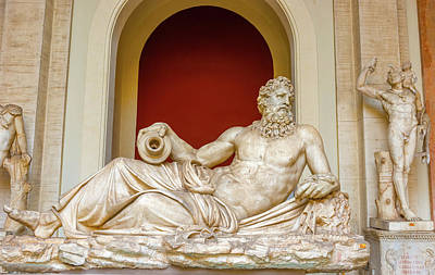 Photograph - River Tiber Sculpture, Vatican Museum, Vatican City by Marek Poplawski