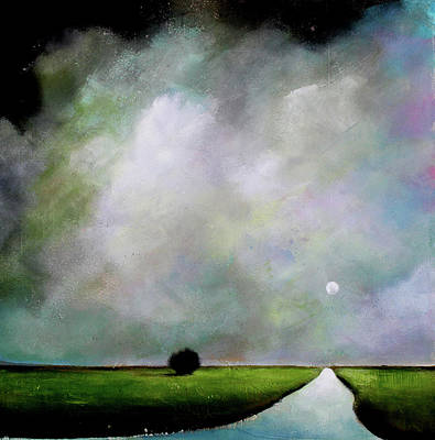 Moody Painting - River To Somewhere by Toni Grote