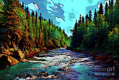 Photograph - River Valley 16718 by Ray Shrewsberry