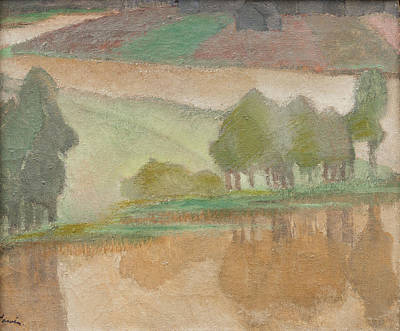 Cawing Painting - River Valley by Alvar Cawen