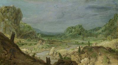 River Valley Art Print by Hercules Segers
