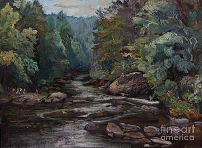 River Valley Visit Art Print by Maris Salmins