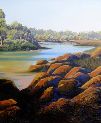 Painting - River View by Anne Gardner