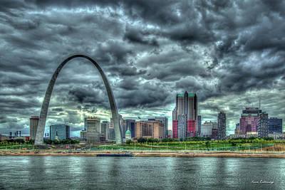 Photograph - River View Gateway Arch St Louis Missouri Cityscape Art by Reid Callaway