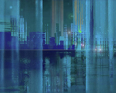 Digital Art - River View by Gina Harrison