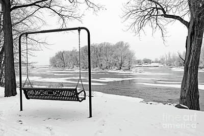 Photograph - River View In Winter  5303 by Jack Schultz