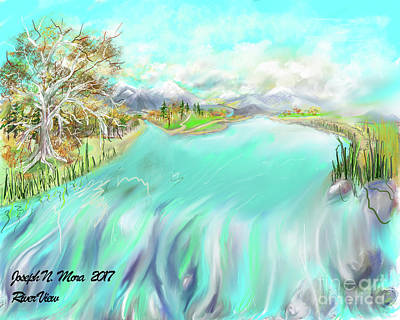 Digital Art - River View by Joseph Mora