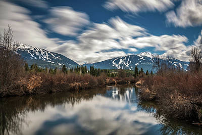 Photograph - River View Of Whistler And Blackcomb  by Pierre Leclerc Photography