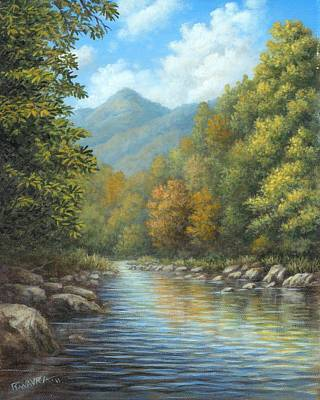 Wavra Wall Art - Painting - River View - Smoky Mountains by Robert Wavra