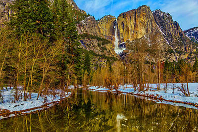 Photograph - River View Yosemite Falls by Garry Gay