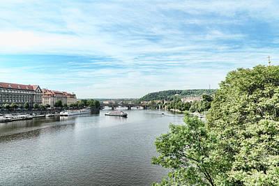 Photograph - River Vltava by Sharon Popek