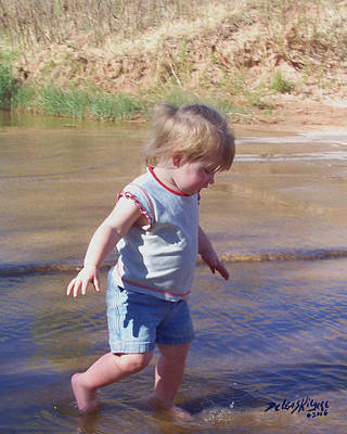 Photograph - River Wading by Deleas Kilgore