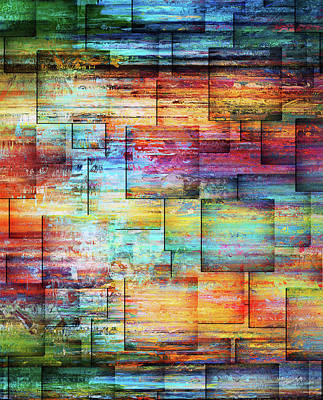Mixed Media - River Walk Contemporary Abstract Art by Georgiana Romanovna
