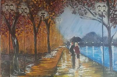 Painting - River Walk In Paris by Judi Goodwin