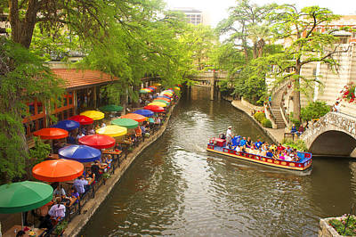 Canal Walk Photograph - River Walk In San Antonio, Texas by Art Spectrum
