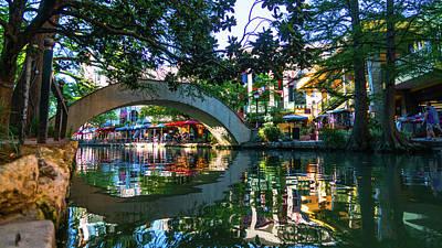 Photograph - River Walk Reflection San Antonio Texas by Lawrence S Richardson Jr