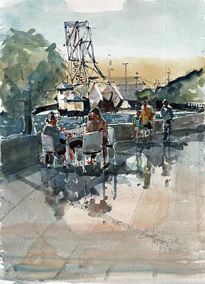 Painting - River Walk Tampa by Gaston McKenzie
