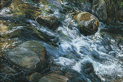 Painting - River Water by Nadi Spencer