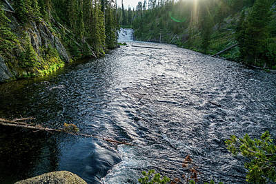 Summer Photograph - River Waterfall by Ric Schafer