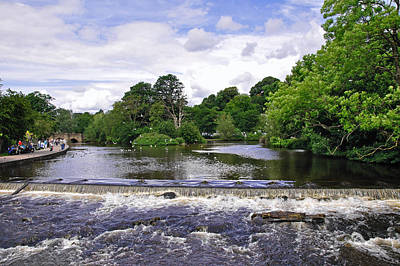 Caravaggio - River Wye and Weir, Bakewell by Rod Johnson