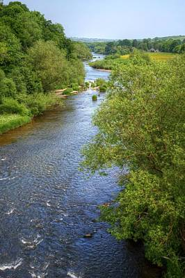 Photograph - River Wye From Hay-on-wye Bridge by Chris Day