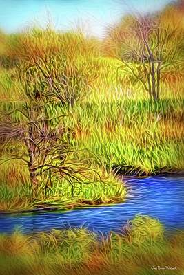 Digital Art - Riverbank Contemplation by Joel Bruce Wallach