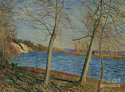 Veneux Painting - Riverbank  by MotionAge Designs
