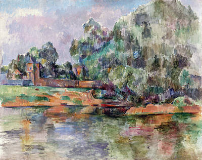 Painting - Riverbank by Paul Cezanne