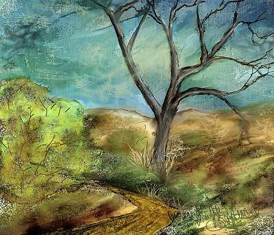 Print featuring the painting Riverbed  by Annette Berglund