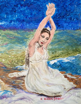 Margot Painting - Riverbed Dancer by N Willson-Strader