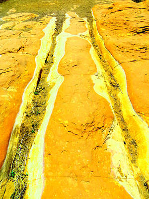 Photograph - Riverbed In Amber by Mike Solomonson