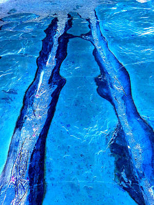 Photograph - Riverbed In Blue by Mike Solomonson