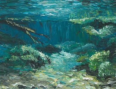 Riverbed Painting - Riverbed by Manny Carwile