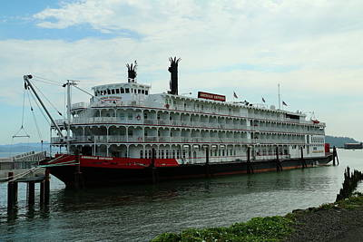 Photograph - Riverboat On Columbia River  by Christiane Schulze Art And Photography