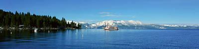 Riverboat On Lake Tahoe, California Art Print