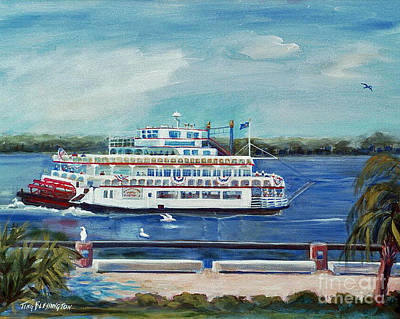 Riverboat Savannah Art Print by Doris Blessington