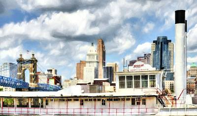 Steamboat Photograph - Riverboats Of Cincinnati # 2 by Mel Steinhauer