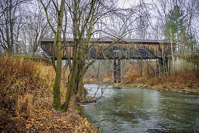 Photograph - Riverdale Rd Covered Bridge  by Jack R Perry